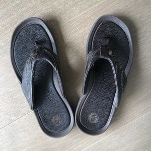 Ocean Minded Leather Thong Sandals Brown Size 7